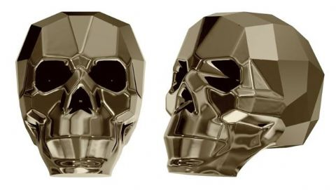 5750 Skull Beads, Metallic Light Gold 2X (2X: Effect on both sides)